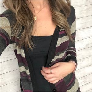 Nordstrom Button Down Striped Cardigan